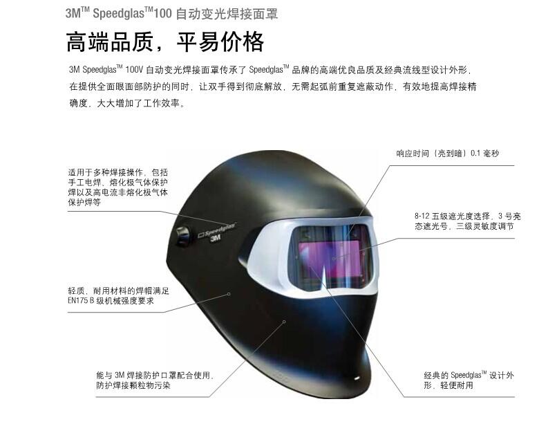 自动变光面罩