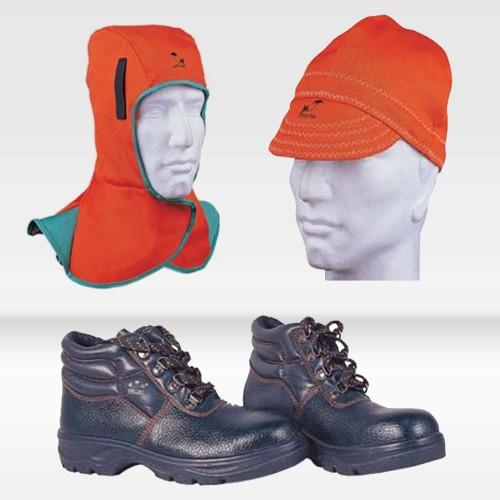 焊帽,脚盖,防护鞋,围裙