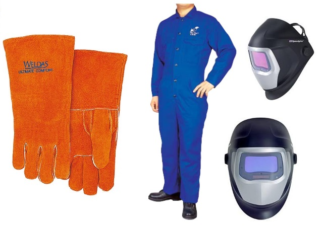焊机手套 衣服 面罩
